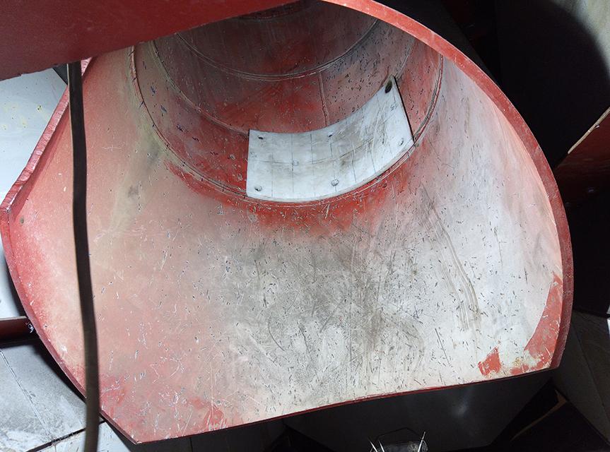 Футеровка оборудования для транспортировки угля